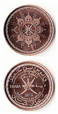 Oman 5 baisa 2015  45th national day 19mm copper steel coin UNC 1pcs