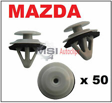 50 x MAZDA Side Moulding Door Sill Cover Side Skirt Trim Clips with Sealer