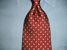 Brooks Brothers Silk Tie Red Blue Gold Paisley  Design
