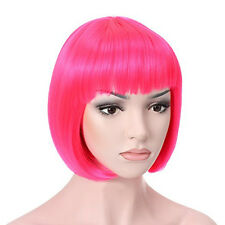 Fashion Women's Sexy Full Bangs Wig Short Wig Straight BOB Hair Cosplay Party