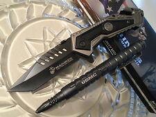Mtech Ballistic USMC Marines Assisted Open Tactical Pocket Knife & Pen Set 4001