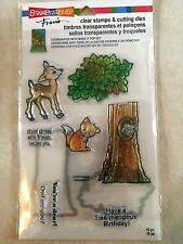 Stampendous Clear Stamp & Die Cut Set Forest Stampendous Deer Fox Tree CSD03 NEW