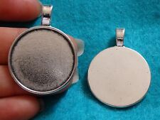 10 setting blanks picture photo frame pendant Tibetan silver antique UK