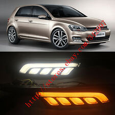 Exact Fit Switchback LED DRL Lights w/ Turn Signals For VW Golf 7 MK7 2014-2016