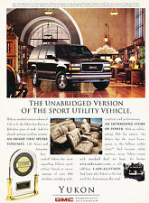 1997 GMC Yukon Original Advertisement Car Print Ad J351