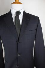 Hugo Boss Suit 38R (31x31) Gray Einstein Sigma Dark Gray Wool Windowpane