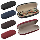 Matte Leather Hard Case Clam Shell For Eyeglass Sunglasses Reading Glasses