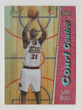 1999/00 TOPPS FINEST LARRY HUGHES COURT CONTROL REFRACTOR 54/150 CARD #CC16