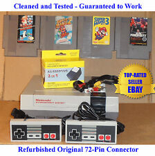 Nintendo NES Console Bundle (BEST PINS) + Mario 1 2 3 & Punch-Out! - Guaranteed
