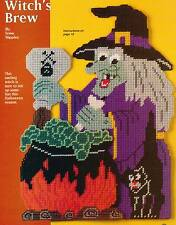 WITCH'S BREW HALLOWEEN PLASTIC CANVAS PATTERN INSTRUCTIONS