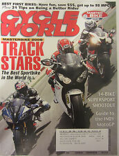 Cycle World Magazine September 2008 Track Stars 14 Bike Supersport Shootout INDY