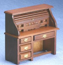 Dollhouse Miniatures 1:12 Scale Walnut Rolltop Desk Item #CLA05298
