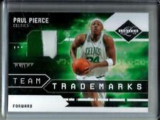 Paul Pierce 09/10 Panini Limited Game Used Jersey Patch #07/10