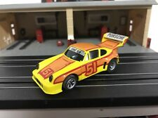 AURORA AFX #51 YELLOW/ORANGE/RED PORSCHE 934 MAGNATRACTION CHASSIS SLOT CAR