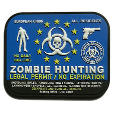 PATCH JTG 3D GOMME ZOMBIE HUNTING PAINTBALL AIRSOFT ARMEE MILITAIRE INSIGNE