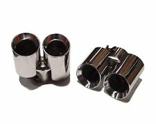 QSC Porsche 997 05-12 Stainless Steel Exhaust Muffler Tips - 1 pair