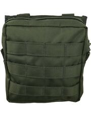 New Green Compatible MOLLE Large Zipped Army Utility Webbing Pouch RAF Security