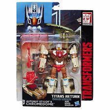 TRANSFORMERS GENERATIONS TITANS RETURN DELUXE CLASS CHROMEDOME ACTION FIGURE