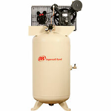 IR Type-30 Reciprocating Air Compressor- 5 HP 80 Gal 230V Single Phase