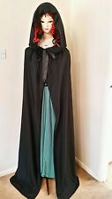 HALLOWEEN MEDIEVAL WITCH VAMPIRE TWILIGHT Cloak Cape FANCY DRESS for Adult18-20
