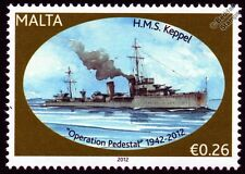 HMS KEPPEL (D84) Thornycroft Type Destroyer Warship WWII Malta Convoys Stamp