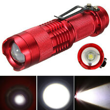 1200lm Mini Tactical 7W CREE Q5 LED Flashlight SA3 Zoomable Lamp Torch Red