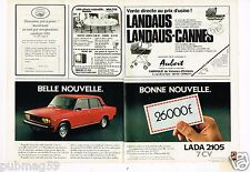 Publicité advertising 1981 (2 pages) Lada 2105 7 CV