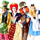 Alice in Wonderland Official Fairytale Fancy Dress Ladies & Mens Costume Outfit
