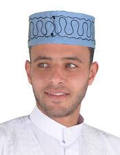 Traditionelle Arabische Herren Kopfbedeckung Fasching Mütze hell-blau - KB0031