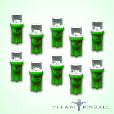 (10 Pack) - 6.3 Volt LED Bulb Flat Top 555 Base (T10) Pinball - GREEN