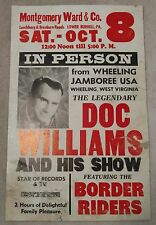 Montgomery Ward & Co. Doc Williams Rare Show Poster-Collection/Gift