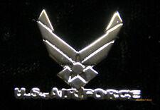 US AIR FORCE WING LOGO SCRIPT HAT LAPEL PIN USAF VETERAN VET GIFT SAC TAC MAC