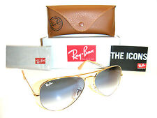 Ray Ban Aviator  RB 3025 001/3F 62mm Gold Frame with Blue Gradient Lenses Large