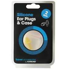 Travel Silicone Ear Plugs - In Case Tapered Sleep Noise Prevention Ear