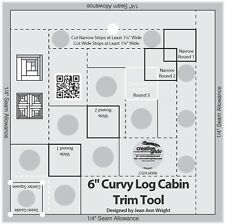 "Creative Grids Curvy Log Cabin Trim Tool for 6"" Finish Sewing and Quilting Ruler"