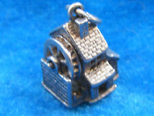 VINTAGE STERLING SILVER CHARM WATERMILL MOVES