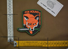 Patch pvc  foxhound metal gear solid color bi  velcro airsoft devgru delta force