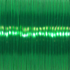 100 YARDS (91m) SPOOL CLEAR GREEN REXLACE PLASTIC LACING CRAFTS CYBERLOX