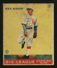 1933 V353 WORLD WIDE GUM ~ #61 ~ MAX BISHOP ~ ATHLETICS