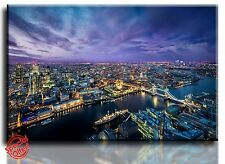 Large Wall Art Canvas Picture Print of London at Night Framed