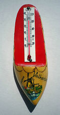 Vintage Dutch Clog Thermometer Valkenburg Holland Souvenir