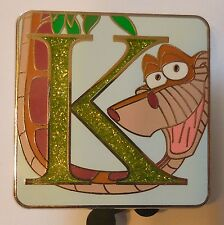 "Disney Pin - Alphabet Mystery Series - ""K"" - Kaa - Chaser Limited Ed 400"