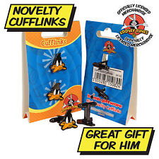 DAFFY DUCK CUFFLINKS Cool Looney Tunes CARTOON CUFF LINKS Unusual Gift Idea BNIB