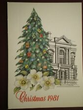 POSTCARD ROYAL MAIL JERSEY POST OFFICE 1981 CHRISTMAS IN YOUR COMMUNITY