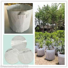 5 Pcs 7Gallon Round Fabric Pots Plant Pouch Root Container Grow Bag Aeration Pot