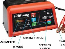 10/2/50 Amp 12 Volt Battery Charger Jump Engine Starter Car/Truck/Boat