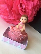 18-Baby Shower Party Favors Princess Girl Decorations Figurines Recuerdos Pink