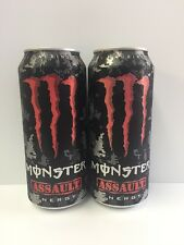 Monster Energy Drink Assault 16oz Cans.2(TWO) Total Cans.