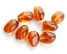 Natural Deep Dark Gold Citrine Smooth Polish Plain Nugget Bead (1pc)