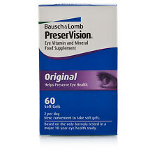 Bausch & Lomb Preservision Original 60 tablets 1 months supply FREEPOST